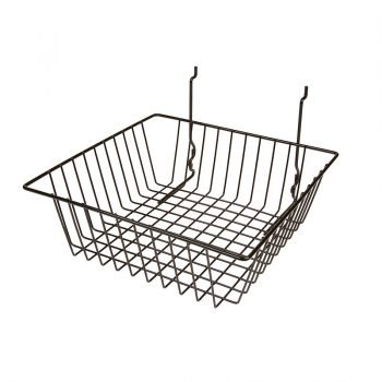 12W X 12D X 4L SMALL BASKET BLACK