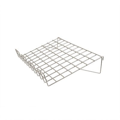 14D X 22.5L SLOPING SHELF W_3 LIP CHROME