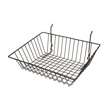 15W X 12D X 5H SLOPING BASKET BLACK
