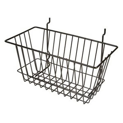 15W X 6D X 6H NARROW BASKET BLACK