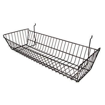 24W X 10D X 5 DOUBLE SLOPING BASKET - BLACK