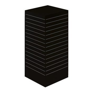 24x24 Rotating Slatwall Merchandiser black