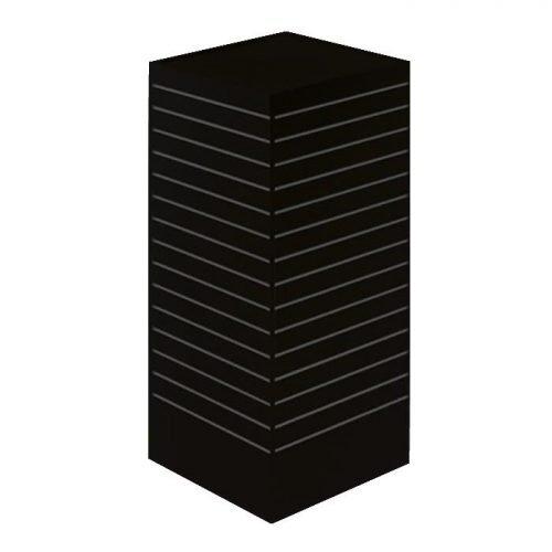 24x24 Rotating Slatwall Merchandiser black