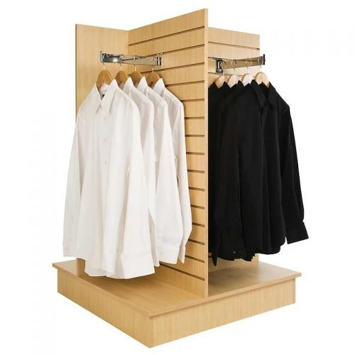 4-way slatwall merchandiser
