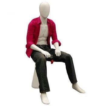 SDMD-KW14D Egghead sitting mannequin