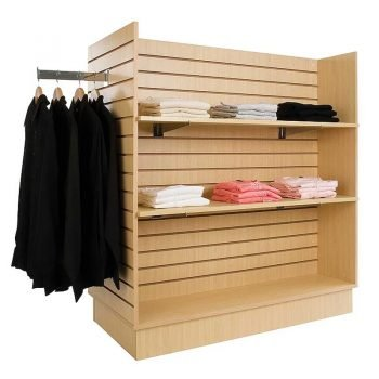 gondola slatwall merchandiser-maple