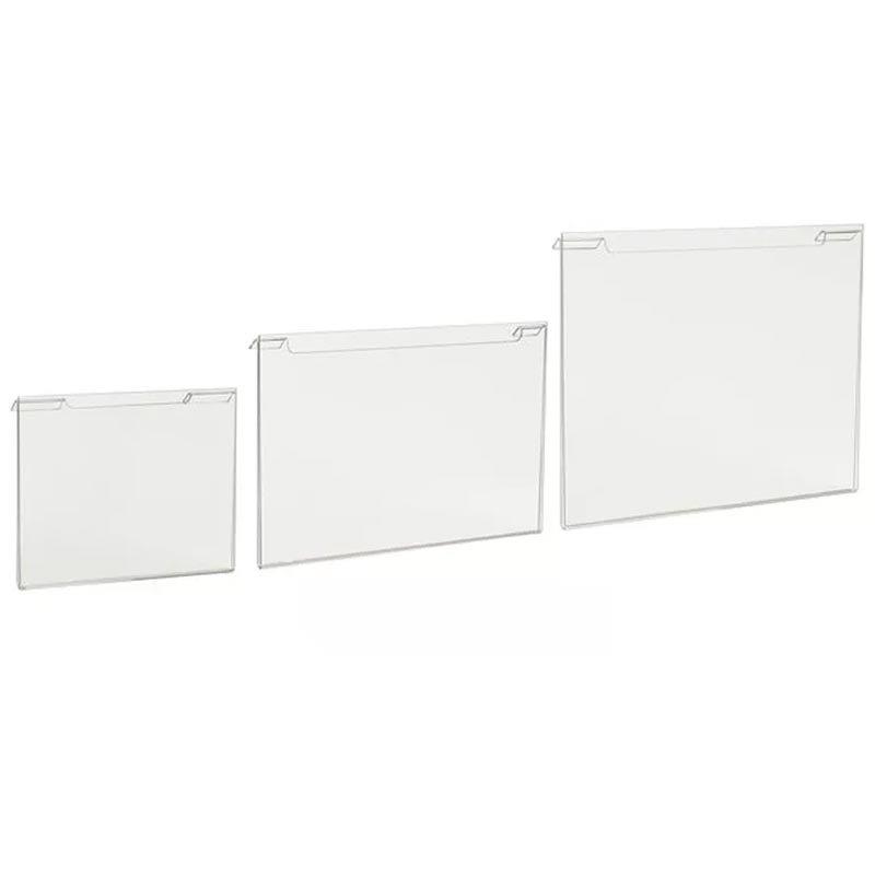 horizontal acrylic grid display
