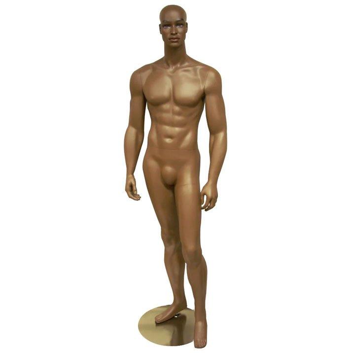 realistic men mannequin dark skintone