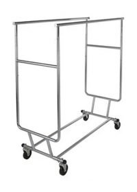 Double collapsible rolling rack