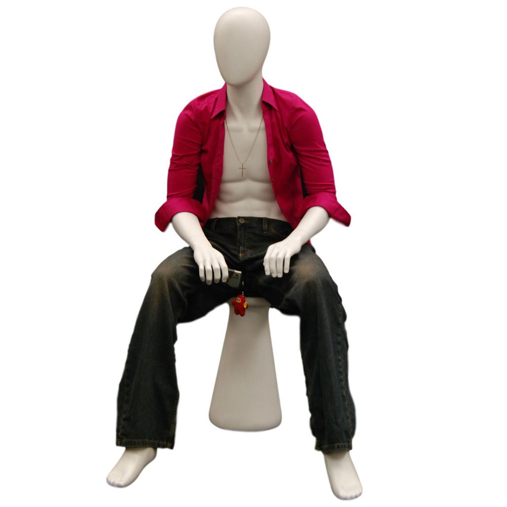 MD-KW15D Egghead sitting male mannequin