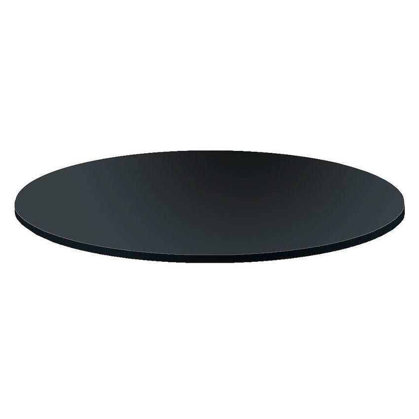 black 30 inch glass rack topper