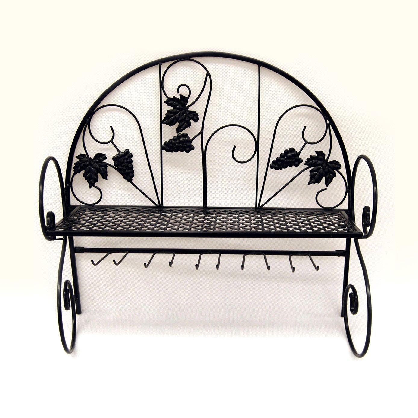 wine glass black iron rack
