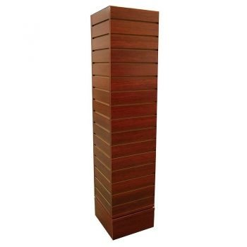 12-x12 Rotating Slatwall Merchandiser cherry