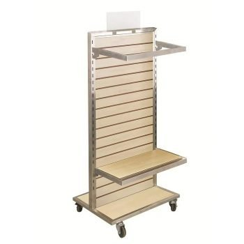 2 Sided Slatwall Merchandiser with Aluminum Frames
