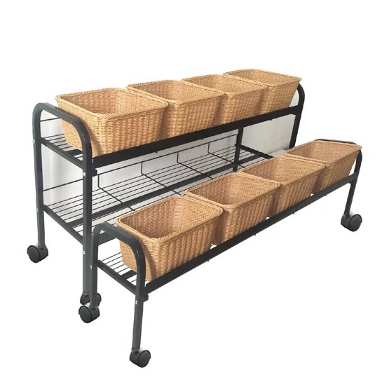 2 tier baskets display