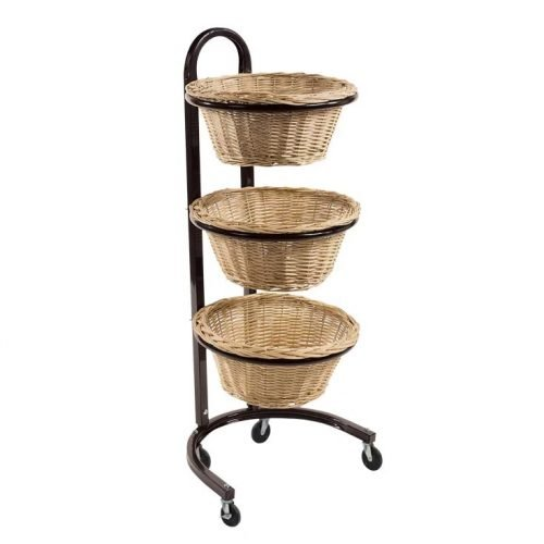 3 Tier Wicker Baskets Display