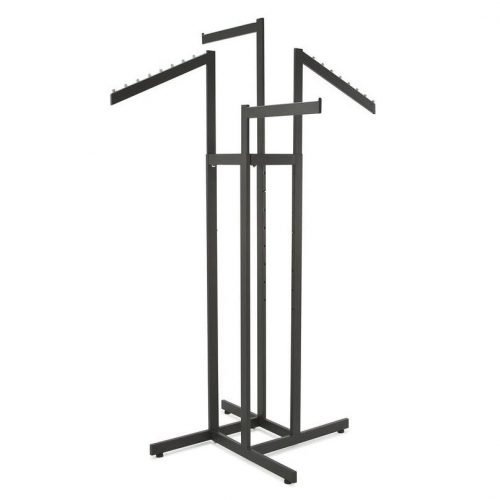 4-Way Rack 2 Straight 2 Slanted Arms Square Tubing