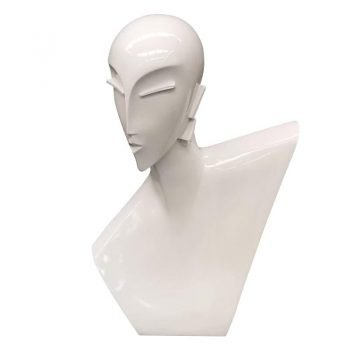 Abstract Female Head Mannequin for Necklace Display
