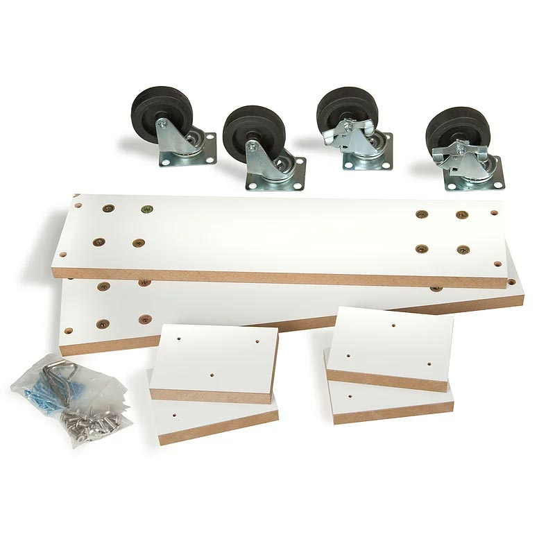 Optional caster kit 2-Way Slatwall Merchandiser