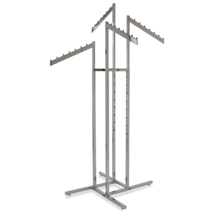 4-Way Rack 4 Slanted Arms Square Tubing