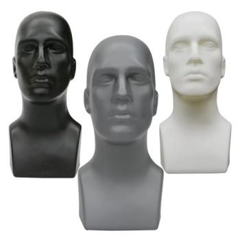 abstract male heads