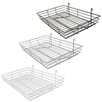 baskets wire shelves