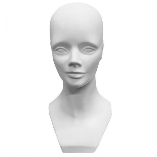 female mannequin head white