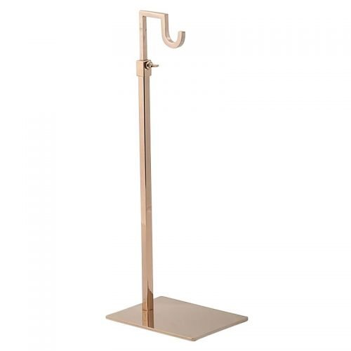 hand bag stand gold