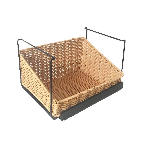 stackable display wicker basket