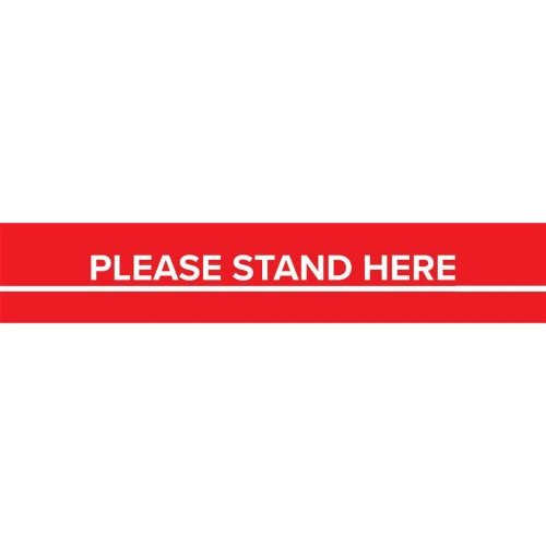 red stand here